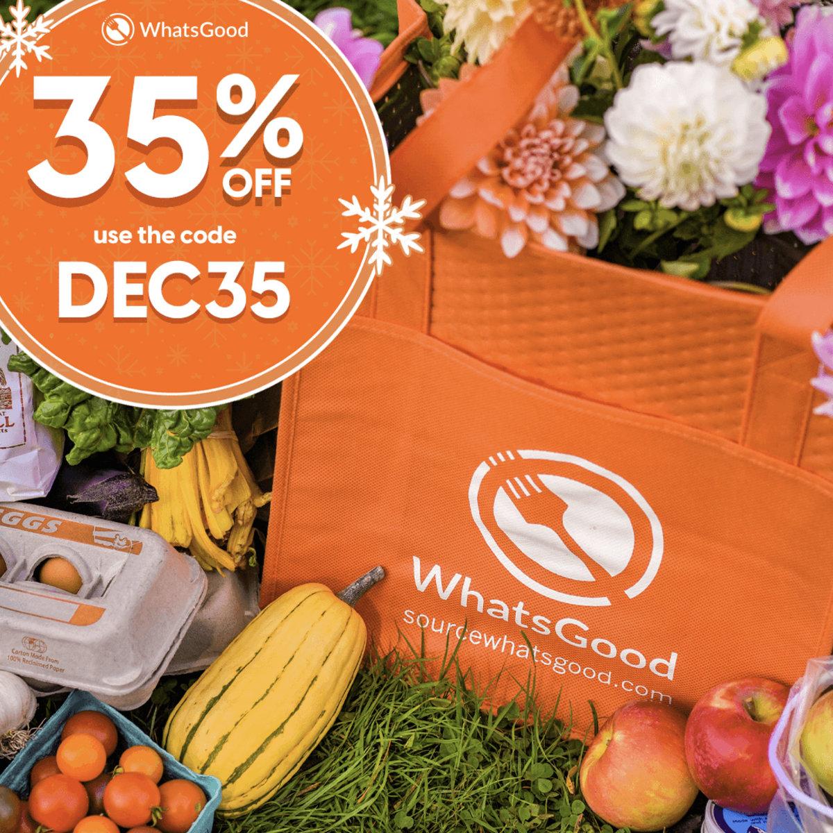 35% off WhatsGood | Code DEC35