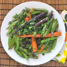 Quick Braised Carrots and Sugar Snap Peas