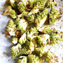 Garlic and Lemon Roasted Romanesco Cauliflower